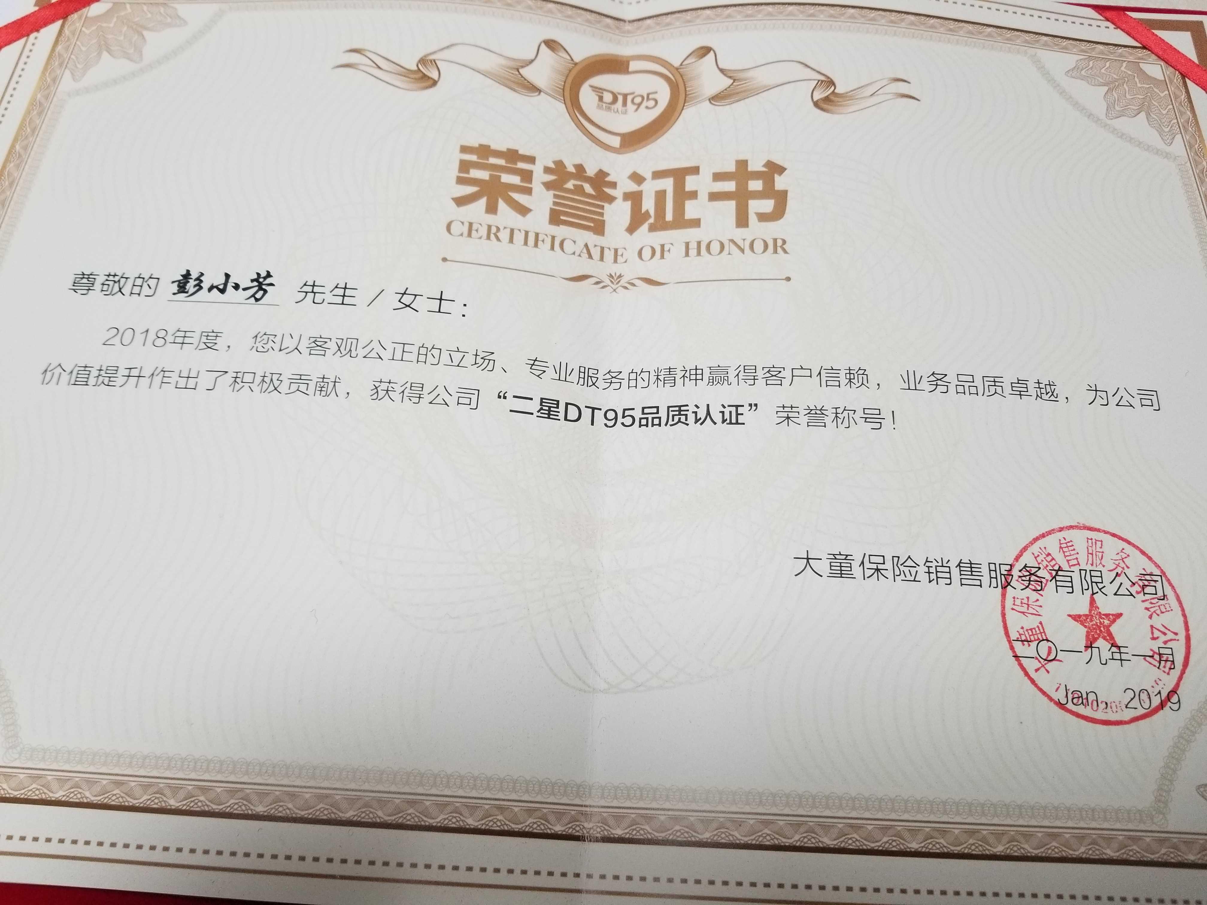 二星DT95品质认证