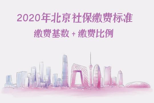 2020年北京社保缴费标准,北京缴费基数与缴费比例