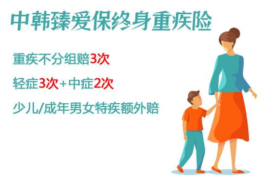 中韩臻爱保重疾险保什么?多少钱一年?价格表+保障分析