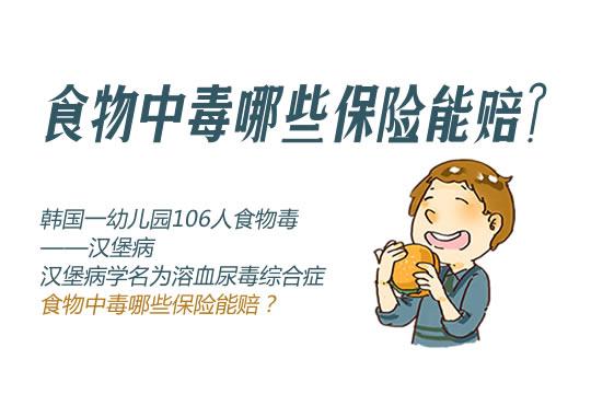 韩国一幼儿园106人食物中毒!食物中毒哪些保险能赔?