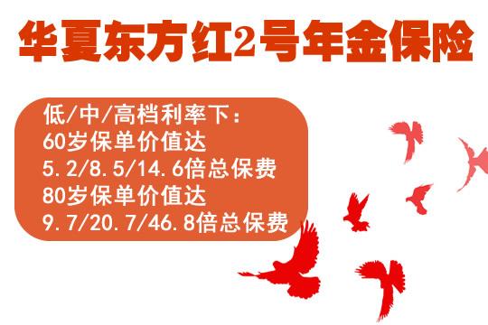 华夏东方红2号年金险保证利率3%是骗人的吗?可信吗?