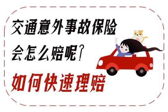 交通意外事故保险会怎么赔呢?如何快速理赔?
