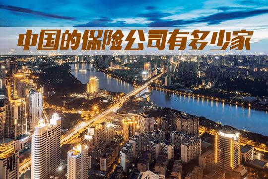 中国的保险公司有多少家?寿险公司是多少?