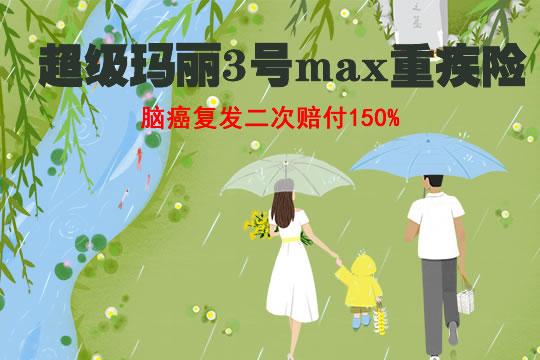 超级玛丽3号max重疾险即将下架哪里买?脑癌复发二次赔付150%!