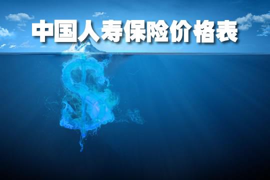 2021中国人寿保险价格表,中国人寿保险价格表