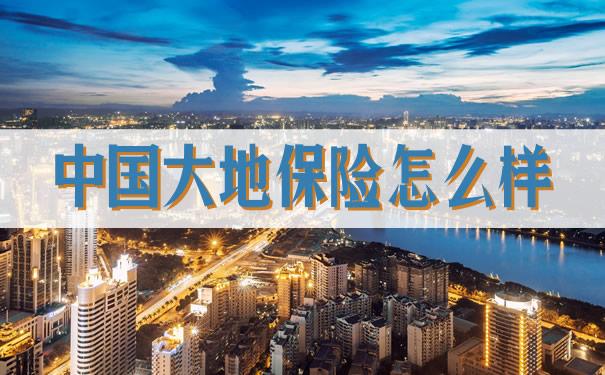 中国大地保险怎么样?2021中国大地保险怎么样