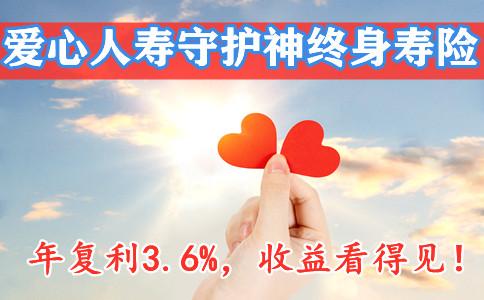 复利3.6%的寿险!爱心人寿守护神终身寿险在哪买?收益如何?好不好?
