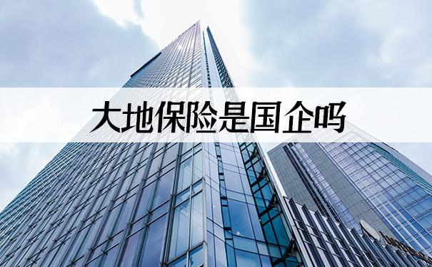 大地保险是国企吗?2021大地保险是国企吗?