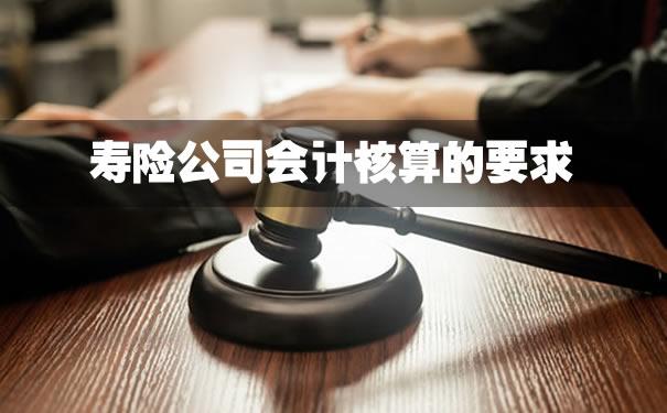 寿险公司会计核算的要求,2021寿险公司会计核算的要求?
